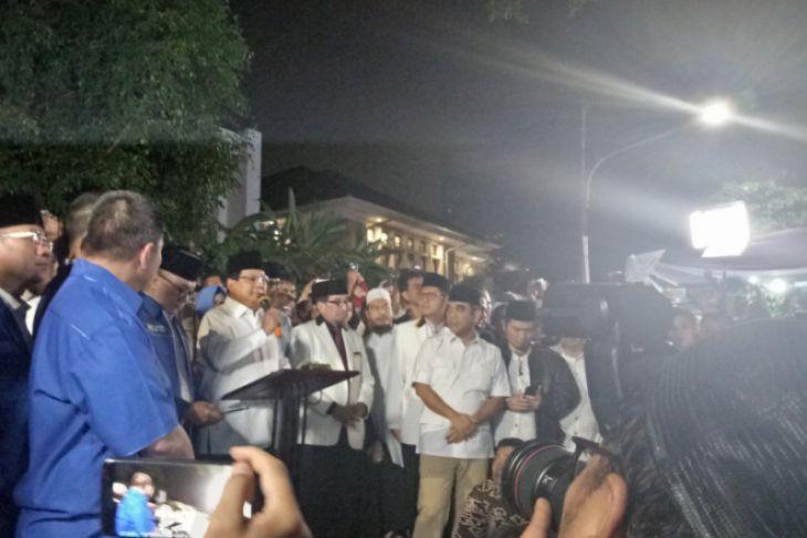 Prabowo umumkan Sandiaga cawapresnya