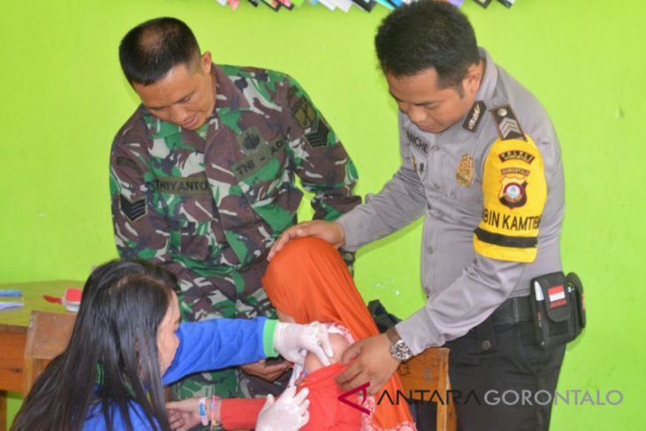 Imunisasi MR Di Gorontalo Utara Tetap berjalan