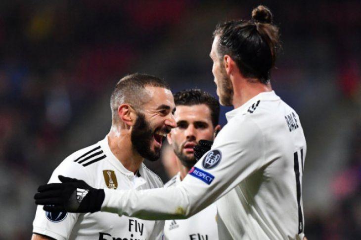 Benzema cetak dua gol saat Madrid hancurkan Plzen