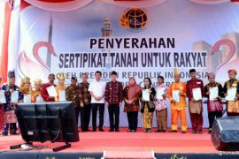 Jambi terima 82.121 sertifikat tanah