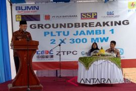 Ground breaking PLTU di Sarolangun