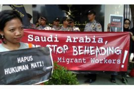 Demonstran Kedubes Arab Saudi sebut Kerajaan Arab tak patuhi tata krama