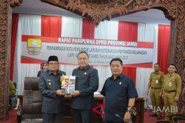 DPRD gelar paripurna penyampaian LKPJ Gubernur Jambi 2017 (Video)