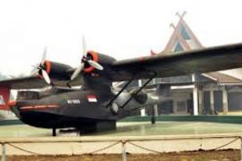Pesawat terbang Catalina RI 005 ikon Museum Perjuangan Jambi