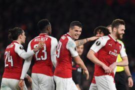 Arsenal ke perempat final setelah tundukkan Milan 3-1