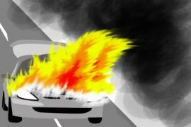 Mobil calon petahana wagub NTT terbakar saat hendak kampanye