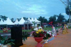 Suasana menjelang puncak perayaan Waisak di Candi Muarojambi