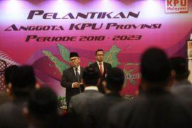 KPU lantik 86 orang penyelenggara pemilu provinsi