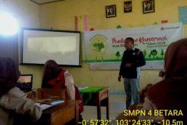 BKSDA Jambi berikan pengetahuan konservasi kepada pelajar