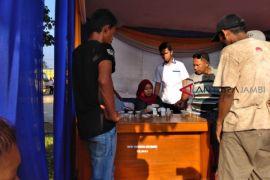 Puluhan sopir jalani tes urine di terminal Muarabulian.