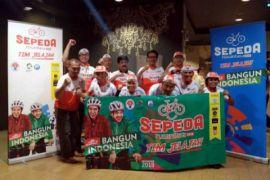 Jelajah Sepeda Nusantara dimulai dari perbatasan Malaysia