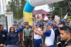 Khaidir pembawa pertama kirab obor Asian Games