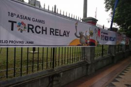 Jumat, Obor Asian Games diarak 78 kilometer di Jambi