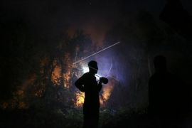 Kebakaran hutan di Ogan Ilir