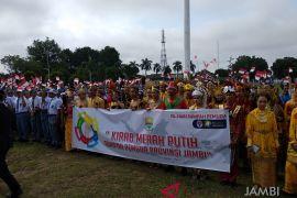 Ribuan Pemuda Jambi ikut Kirab Merah Putih
