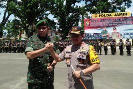 Pangdam pimpin apel bersama TNI-Polri untuk Pemilu