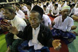 Pembacaan satu miliar sholawat nariyah di Ponpes Lirboyo