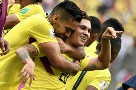 Pemain Kolombia selamat dari aksi penembakan usai pertandingan