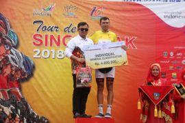 Pebalap Ukraina rebut jersey kuning etape II Tour de Singkarak