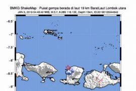 Gempa 3,7 SR guncang Lombok Utara