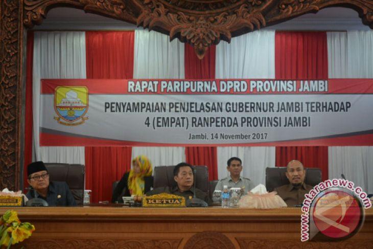 DPRD Gelar Paripurna Penyampaian Empat Raperda Pemprov Jambi