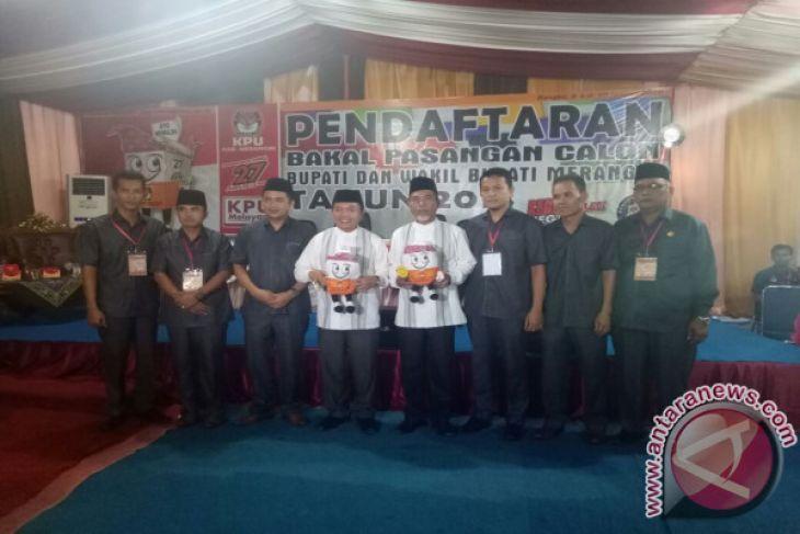 Tiga pasangan calon daftar peserta Pilkada Merangin