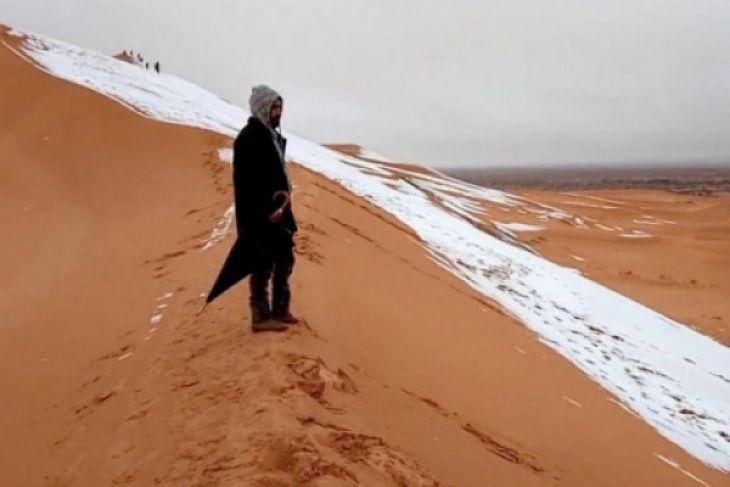 Salju turun lagi di Gurun Sahara