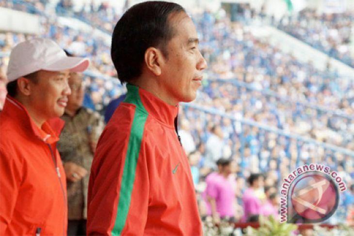 Presiden Jokowi tonton final Persija- Bali United
