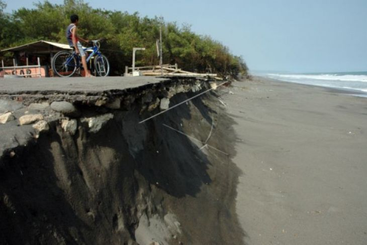 Pantai Cemara abrasi 25 meter per tahun