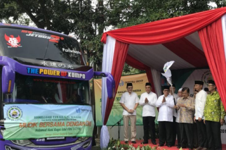Wapres lepas rombongan mudik bareng Dewan Masjid Indonesia