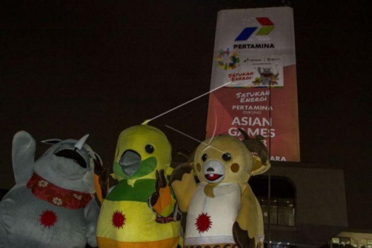 Video mapping Pertamina untuk Asian Games