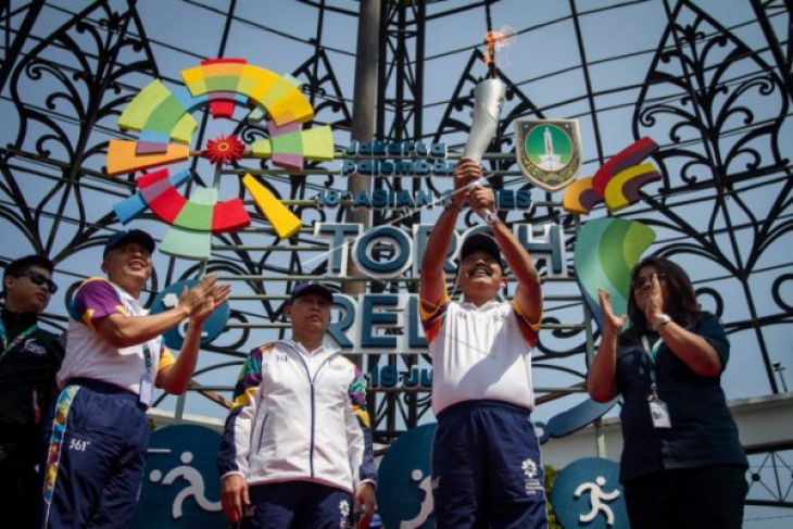 Torch relay obor Asian Games 2018 di Solo