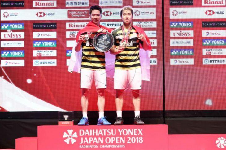 Kevin/Marcus pertahankan juara Jepang Terbuka