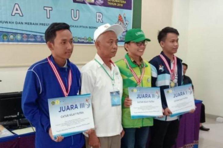 Kuswanto juara III catur kilat Pekan Kreatifitas Mahasiswa PTKIN Sumatera