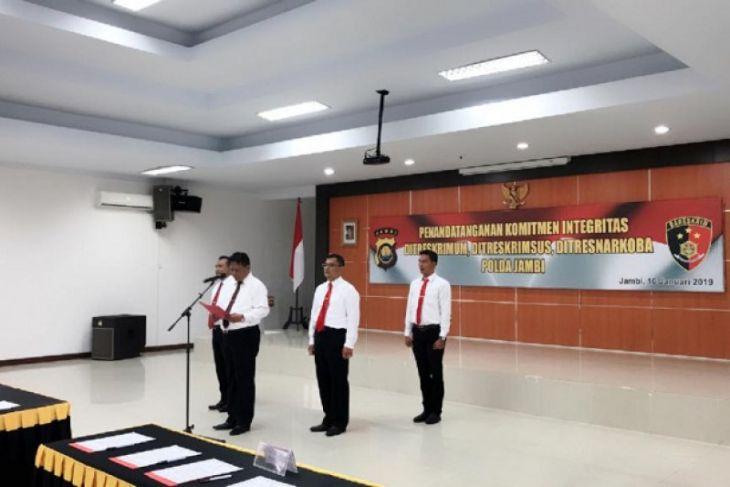 Polda Jambi tanda tangani komitmen integritas Kabareskrim