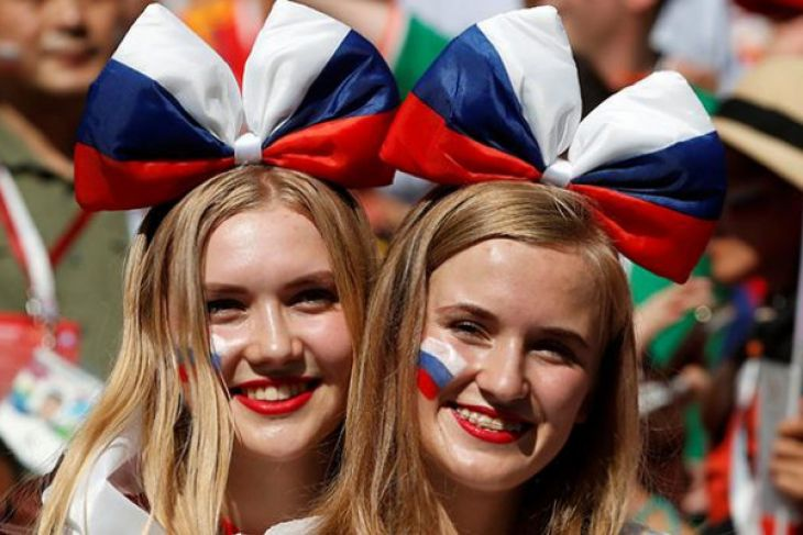 Meski Gagal, Fans Rusia tetap Antusias Sambut Pencapaian Timnya