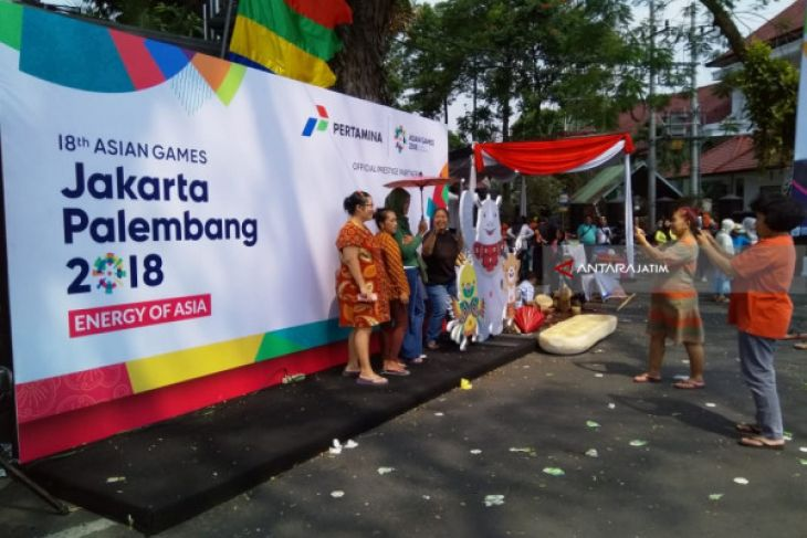 Sampai di Malang, Obor Asian Games Disambut Pentas Budaya (Video)