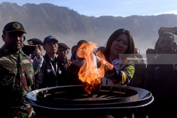Pawai Obor Asian Games Diharapkan Tingkatkan Kunjungan Wisata Gunung Bromo