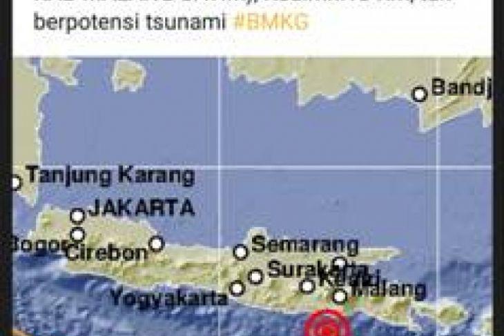 Gempa Tektonik 4,4 SR Guncang Malang