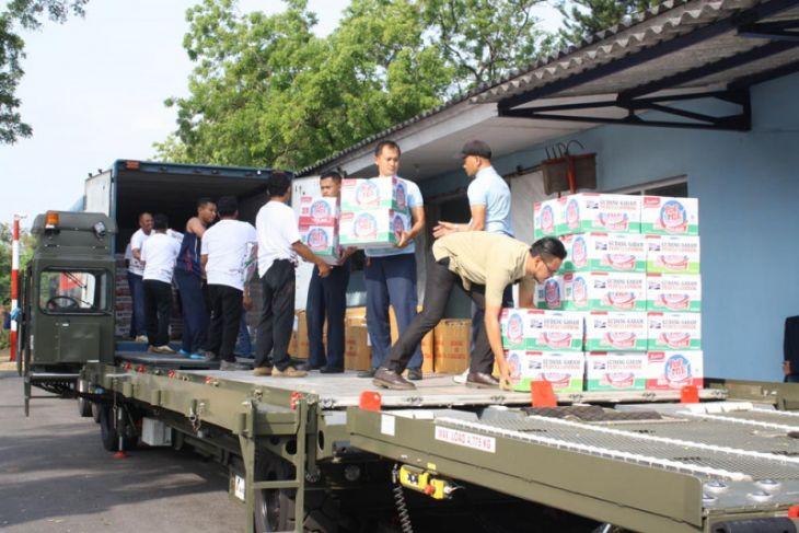 Korem Madiun Kirim Bantuan Bagi Korban Gempa Lombok