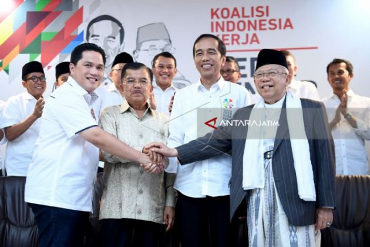 Relawan TKN Jokowi di Jatim Perpaduan Nasional-Islam