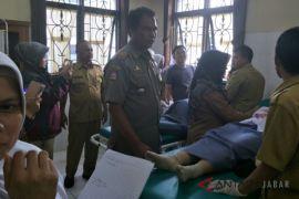 Delapan siswa luka tertimpa atap bangunan akibat gempa