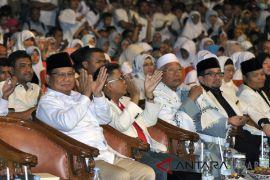 Prabowo Subianto hadiri debat publik Pilgub Jabar