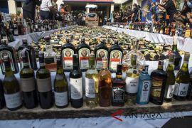 Ribuan minuman etil Alkohol dimusnahkan