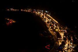 Polisi alihkan arus kendaraan ke Singaparna