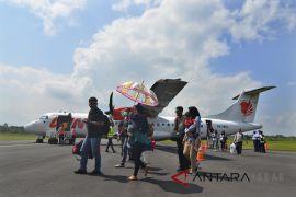 Arus mudik bandara Lanud Wiriadinata