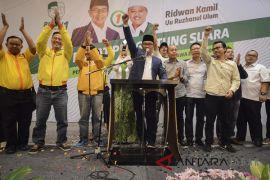 KPU tetapkan Ridwan Kamil-Uu sebagai paslon terpilih Pilgub Jabar 2018