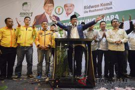 Pasangan Ridwan Kamil-Uu menang di Garut