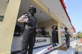 Pengamanan pasca penyerangan Mapolres Indramayu