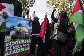 Aksi tolak kekerasan di Palestina
